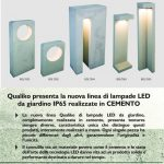 Nuova linea lampade LED da giardino in cemento